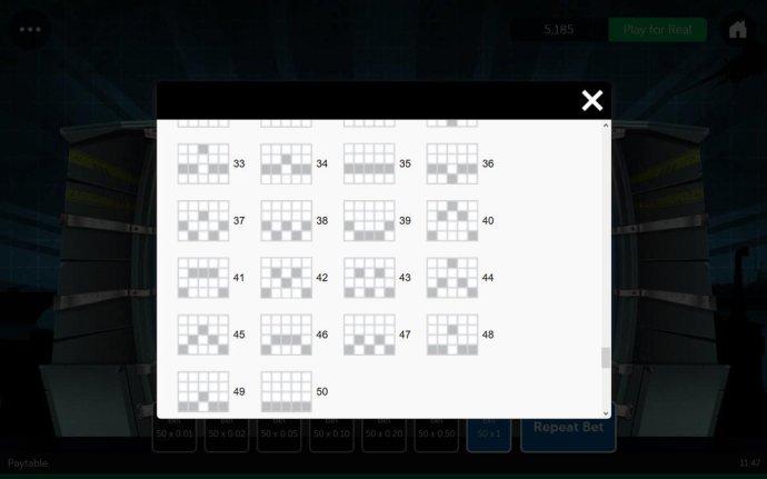 Payline Diagrams 33-50 - No Deposit Casino Guide