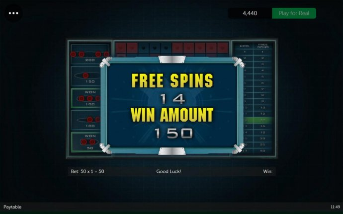 14 free spins awarded. - No Deposit Casino Guide