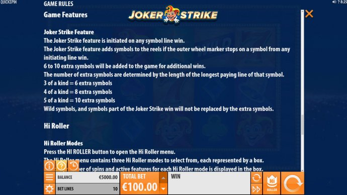 Joker Strike screenshot