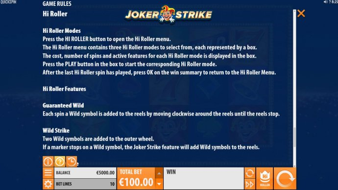 No Deposit Casino Guide image of Joker Strike