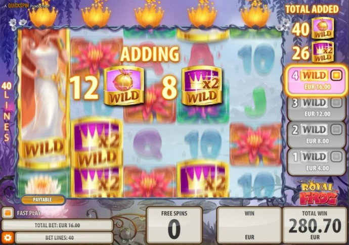 Extra wild symbols are added with each free spin. - No Deposit Casino Guide