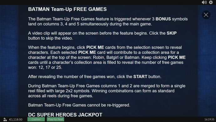 Batman Team-Up Free Games Rules - No Deposit Casino Guide