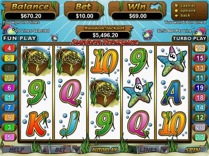 No Deposit Casino Guide image of Sunken Treasure
