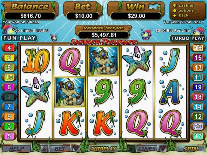 Sunken Treasure by No Deposit Casino Guide