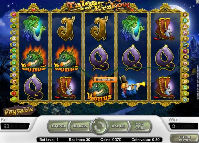 No Deposit Casino Guide image of Tales of Krakow