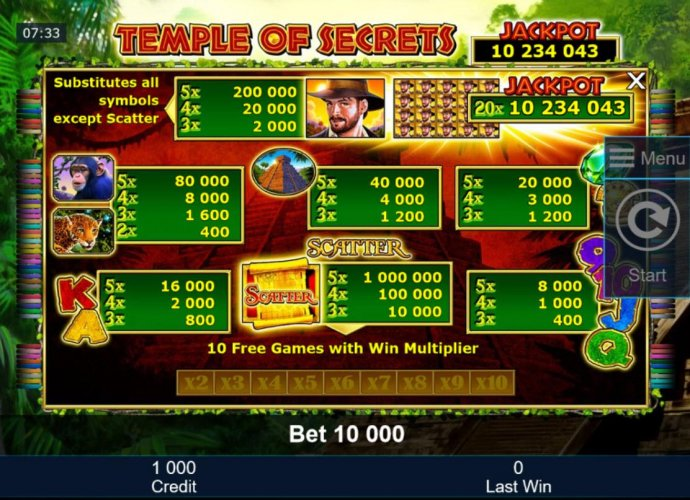 Temple of Secrets screenshot