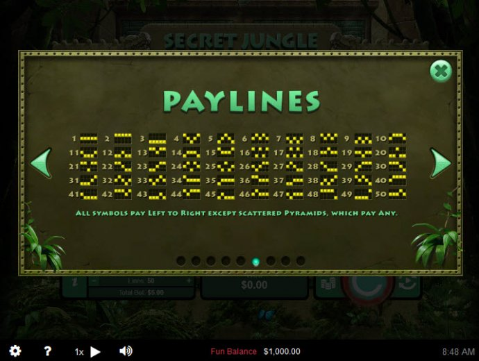 Paylines 1-50 by No Deposit Casino Guide