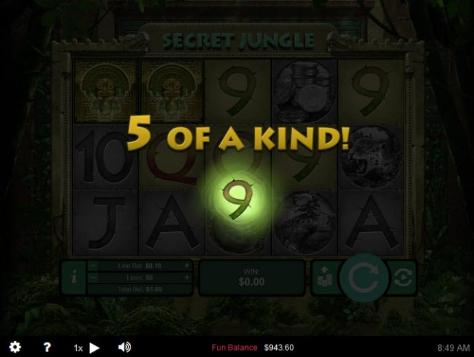 Five of a kind by No Deposit Casino Guide