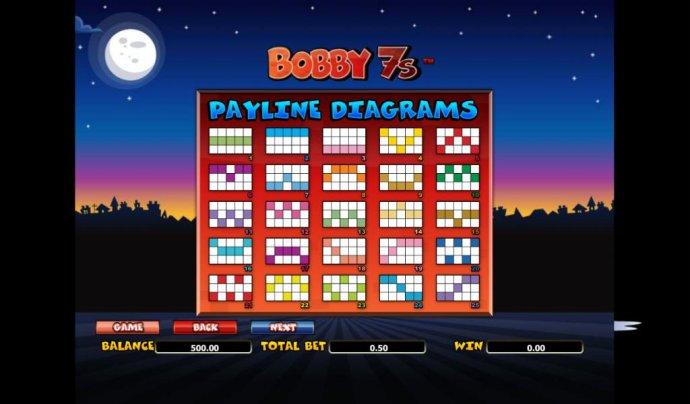 25 payline diagrams - No Deposit Casino Guide