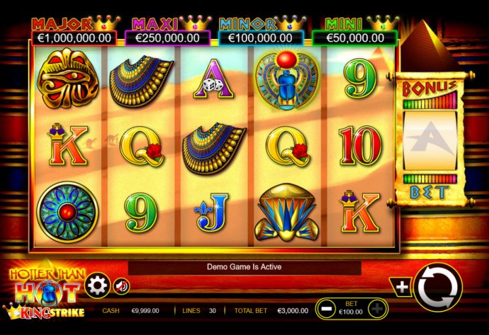 No Deposit Casino Guide image of Hotter than Hot King Strike