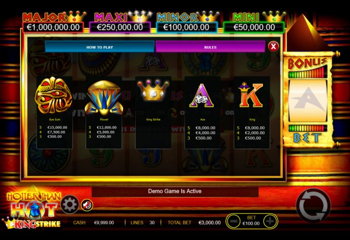 Hotter than Hot King Strike by No Deposit Casino Guide