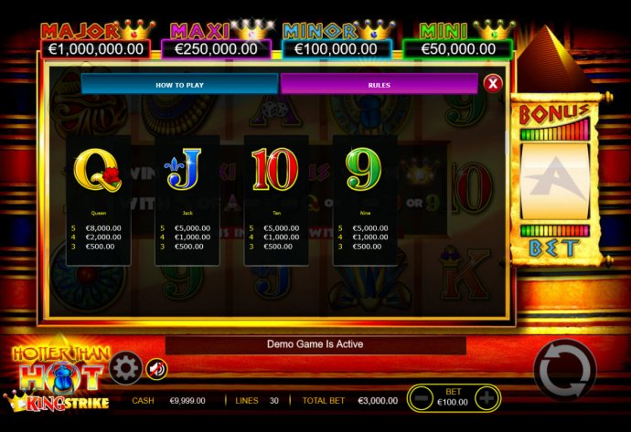 No Deposit Casino Guide - Low Value Symbols
