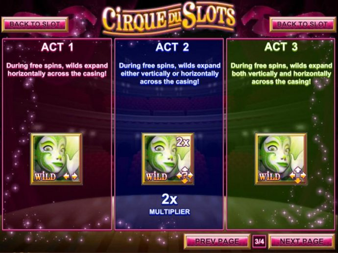 No Deposit Casino Guide image of Cirque du Slots