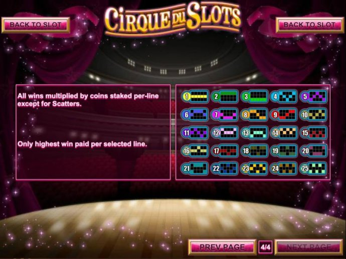 No Deposit Casino Guide image of Cirque du Slots