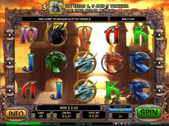 No Deposit Casino Guide image of Dragon Slot