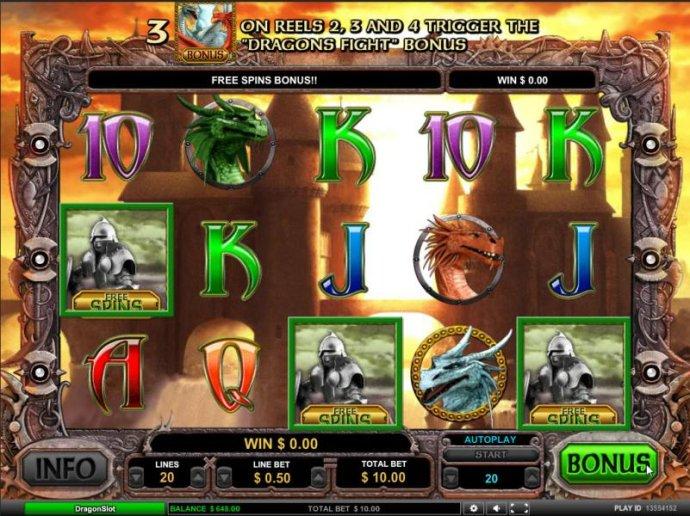 No Deposit Casino Guide - free spins bonus triggered