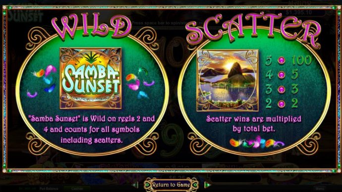 No Deposit Casino Guide image of Samba Sunset