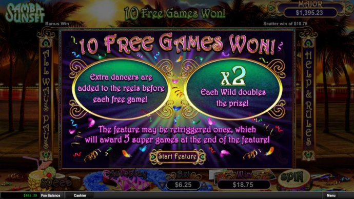 No Deposit Casino Guide - 10 Free Games Awarded. Extra Dancers are added to the reels before each game. Each wild doubles the prize!
