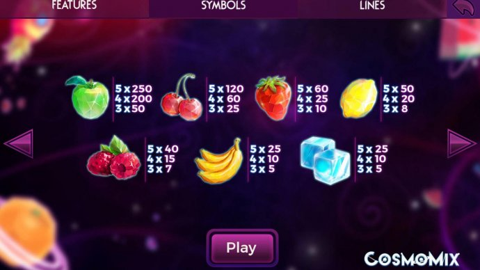 No Deposit Casino Guide - Paytable