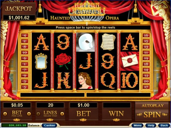 haunted opera by No Deposit Casino Guide