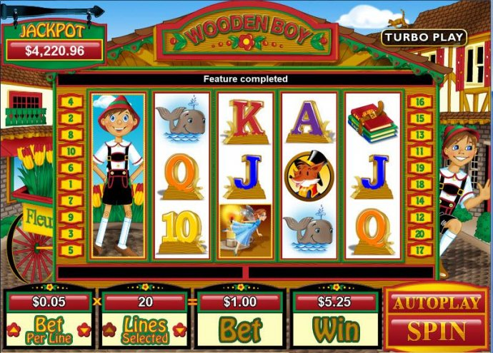 No Deposit Casino Guide image of Wooden Boy
