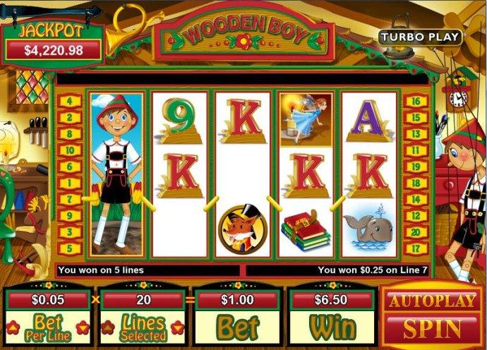 Wooden Boy by No Deposit Casino Guide
