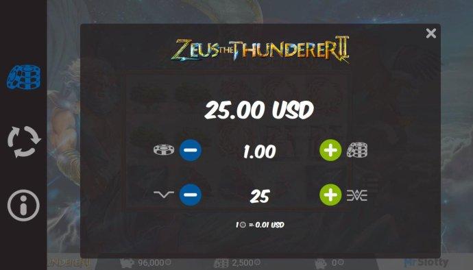 No Deposit Casino Guide image of Zeus the Thunderer II
