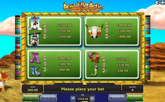 Images of Armadillo Artie Dash for Cash