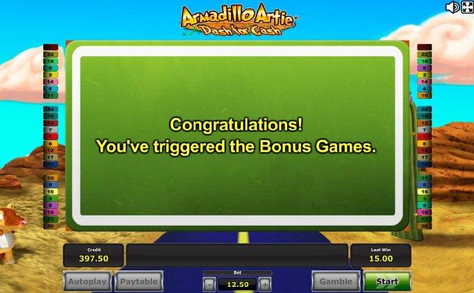 Armadillo Artie Dash for Cash screenshot