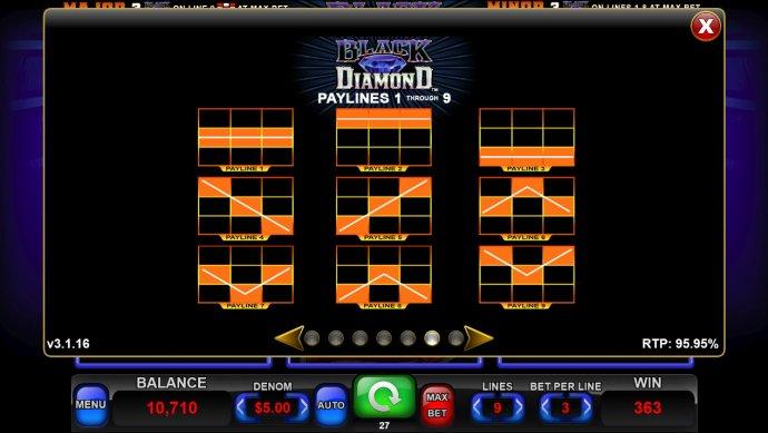 Paylines 1-9 - No Deposit Casino Guide