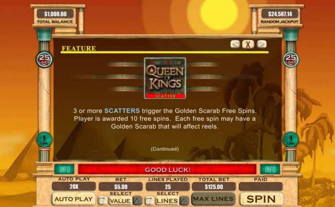No Deposit Casino Guide image of Queen of Kings