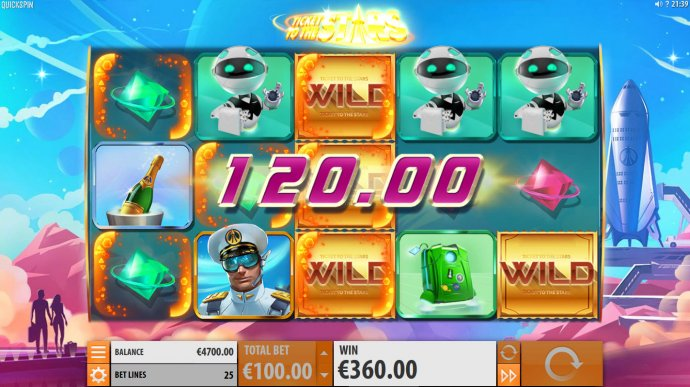 No Deposit Casino Guide image of Ticket to the Stars
