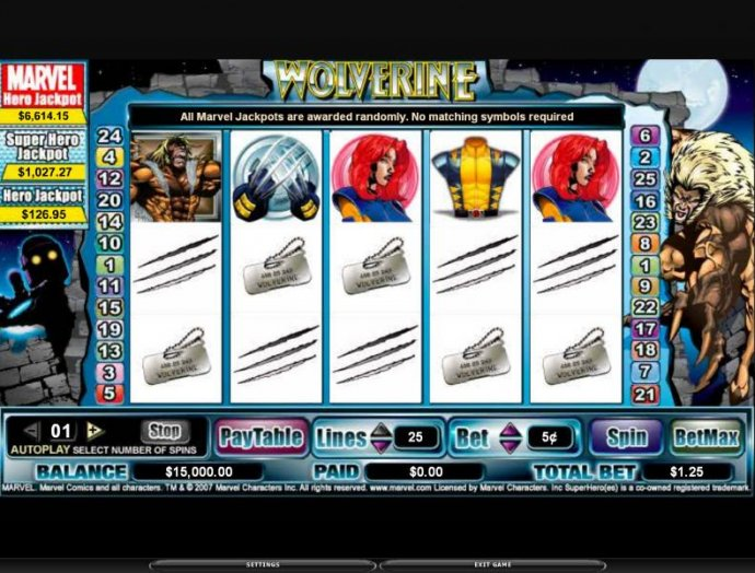No Deposit Casino Guide image of Wolverine