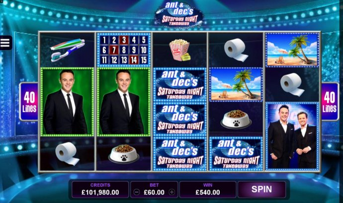 Ant & Dec's Saturday Night Takeaway by No Deposit Casino Guide