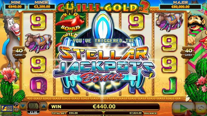 No Deposit Casino Guide - Stellar Jackpots feature triggered - this is a randomly triggered bonus feature.