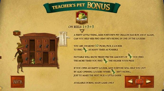 No Deposit Casino Guide - Teachers Pet Bonus Game Rules