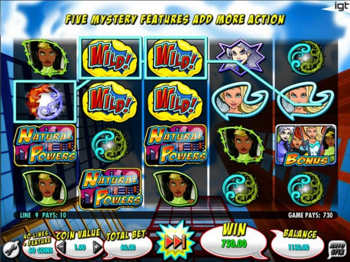 Mystery Feature - Power of Wind leads to multplie winning paylines and a big win! - No Deposit Casino Guide