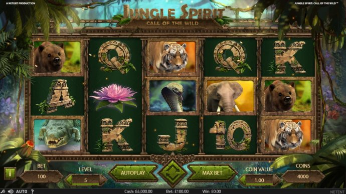 No Deposit Casino Guide image of Jungle Spirit Call of the Wild
