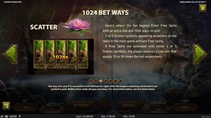 Jungle Spirit Call of the Wild by No Deposit Casino Guide