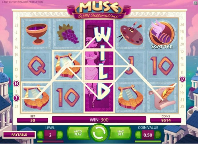 No Deposit Casino Guide - expanding wild combines with multiple symbols to trigger a $300 coin payout