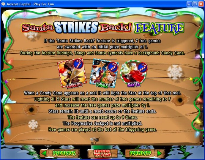 No Deposit Casino Guide image of Return of the Rudolph