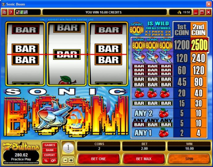 No Deposit Casino Guide image of Sonic Boom