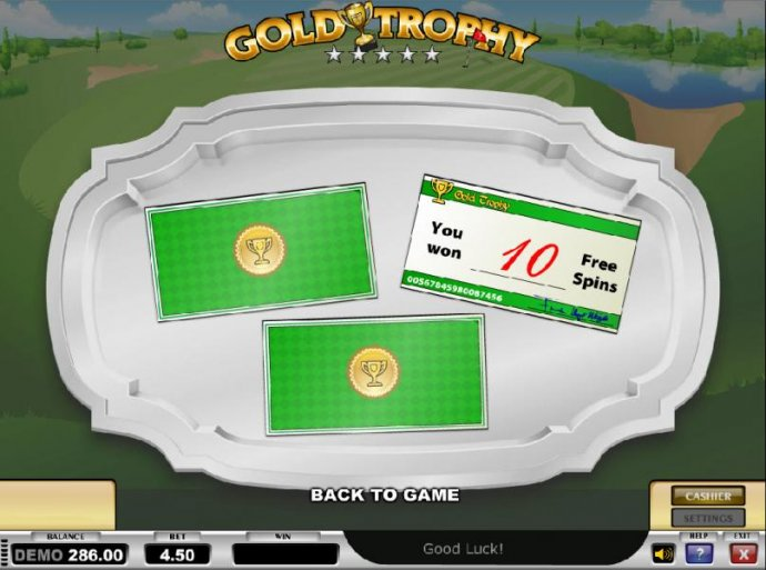 No Deposit Casino Guide image of Gold Trophy