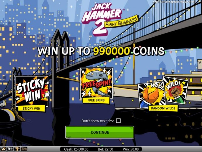 Jack Hammer 2 Fishy Business Win up to 990000 coins by No Deposit Casino Guide