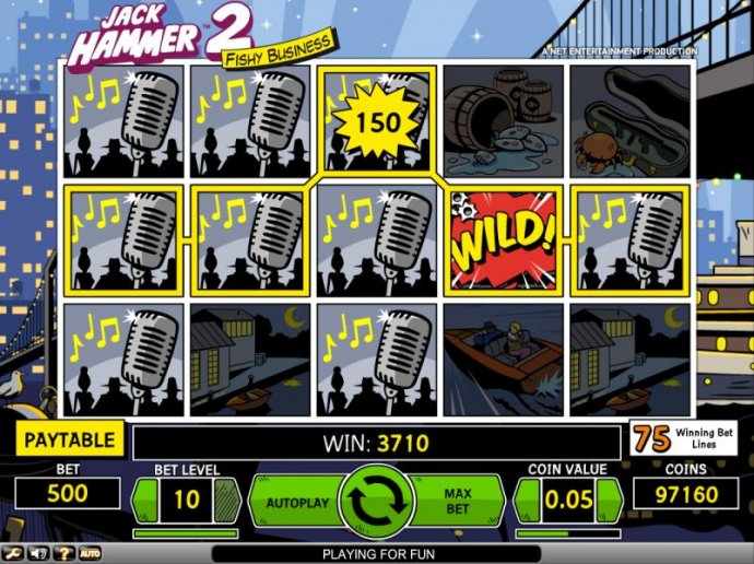 Jack Hammer 2 - Fishy Business by No Deposit Casino Guide