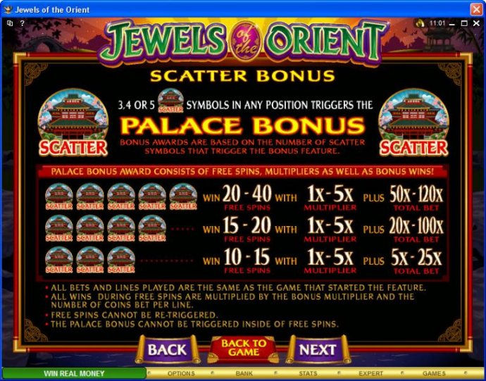 No Deposit Casino Guide image of Jewels of the Orient