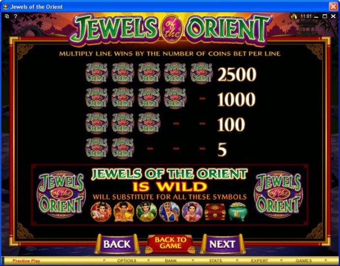 Jewels of the Orient screenshot