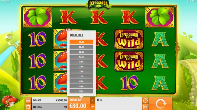 No Deposit Casino Guide - Click on the total bet up arrow to select raise of lower the stake.
