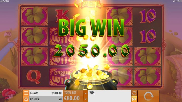 Multiple winning paylines triggers a 2050.00 big win! by No Deposit Casino Guide