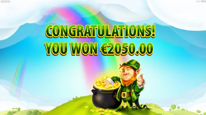 The Rainbow Free Spins feature pays out a total of 2050.00 - No Deposit Casino Guide